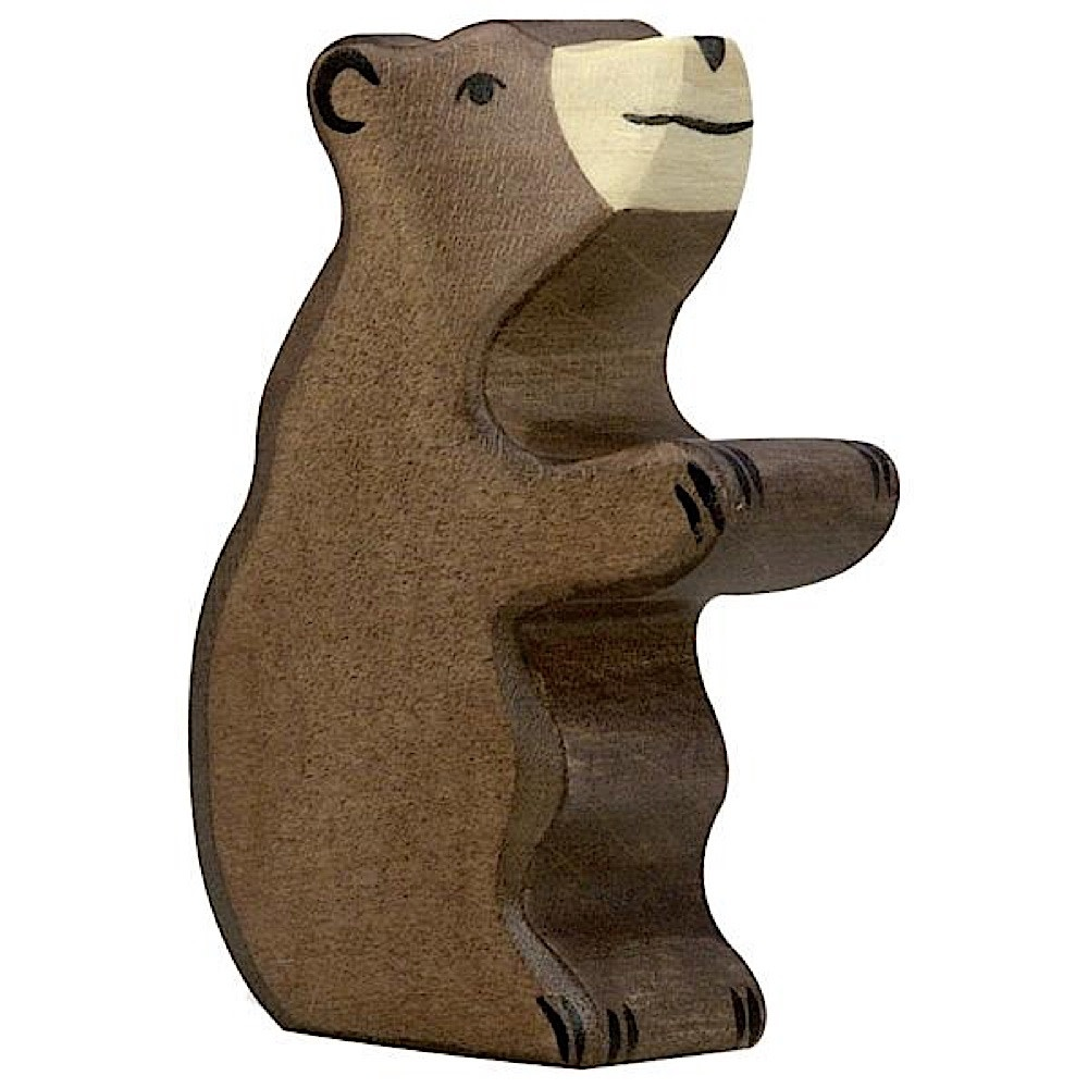 Holztiger Wooden Brown Bear - Small Sitting