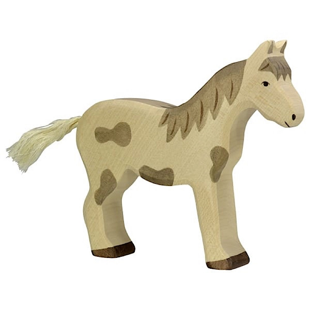 Holztiger Holztiger Wooden Horse - Standing Dappled