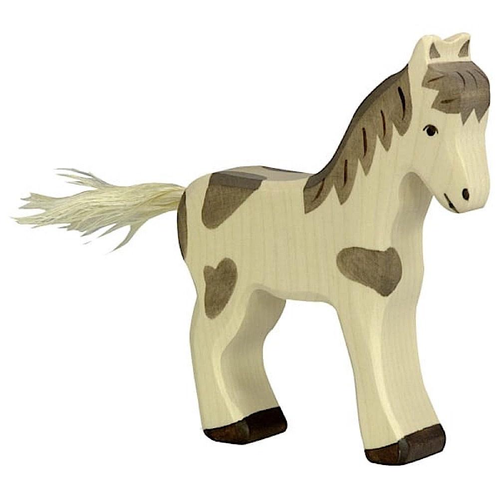 Holztiger Holztiger Wooden Foal - Standing, Dappled