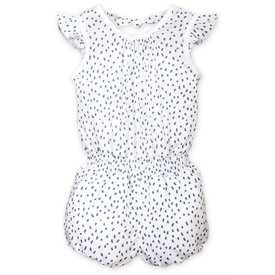 Feather Baby Feather Baby Tie Romper - Pintas on White