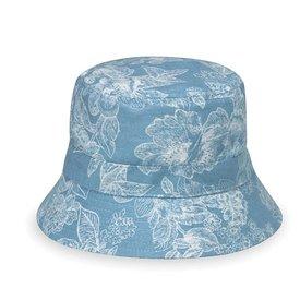 Wallaroo Hat Company Aloha Hat - Baby 3-12 MOS - Blue Floral
