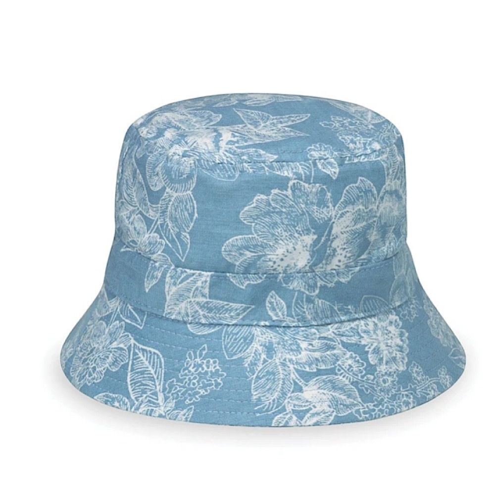 Aloha Hat - Baby 3-12 MOS - Blue Floral