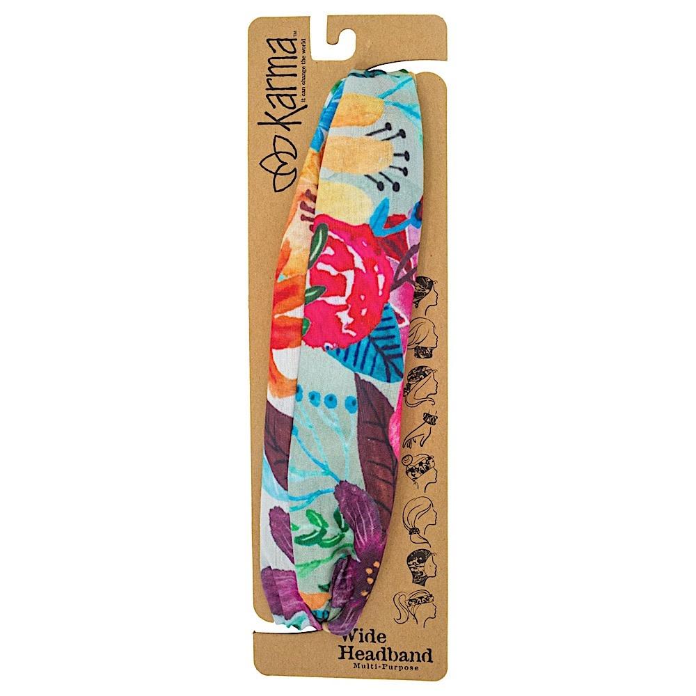 Karma Wide Headband - Watercolor Floral