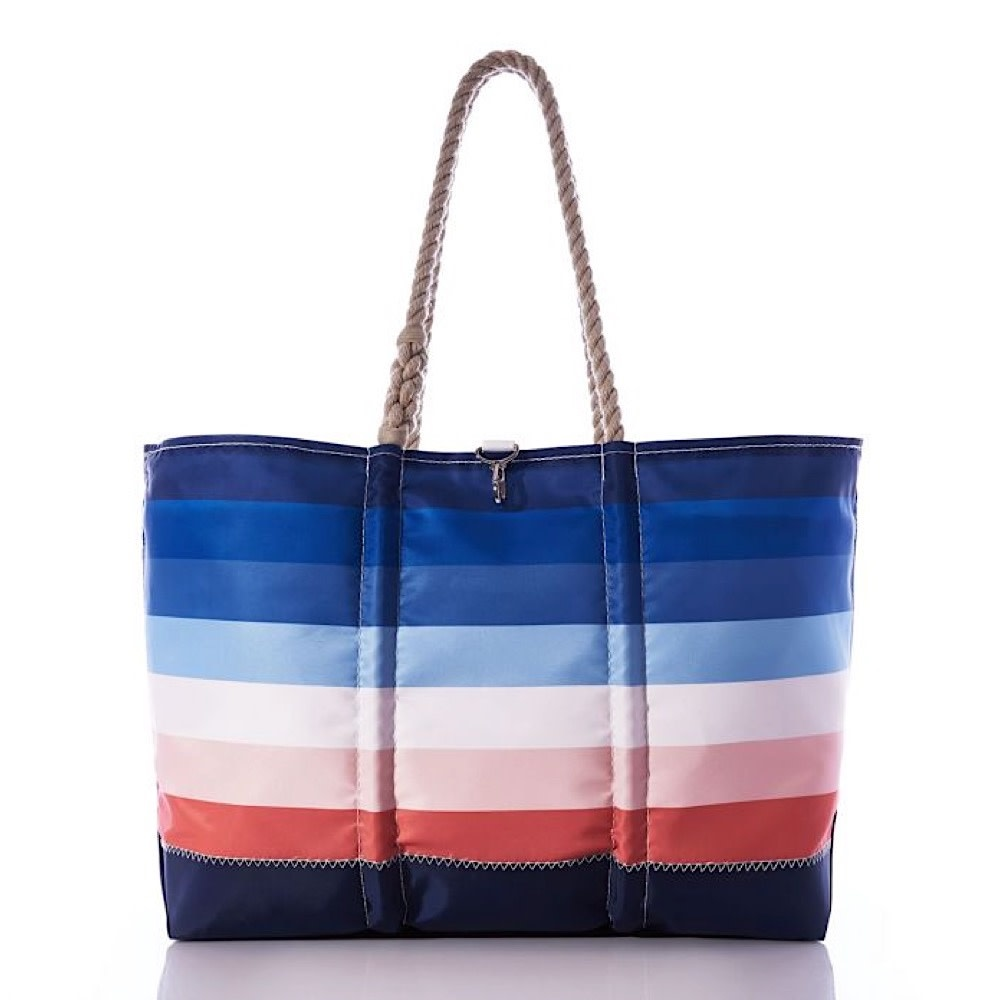 Sea Bags Sea Bags Sunset Stripe Ogunquit Tote - Large