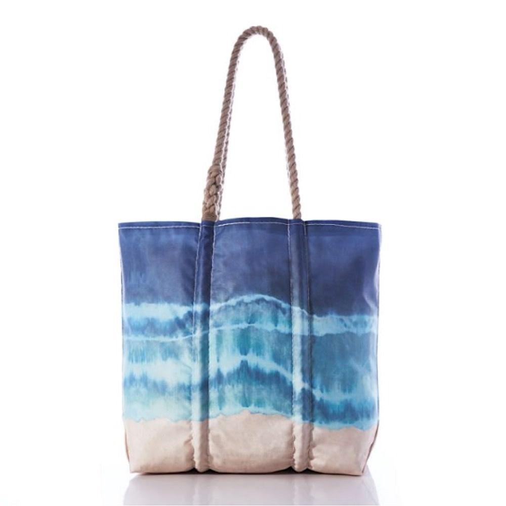 Sea Bags Tote - Shoreline Tie-Dye - Hemp Handles - Medium