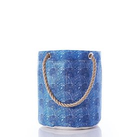 Sea Bags Sea Bags Beachcomber Bucket Bag - Liquid Blue Fish Scale