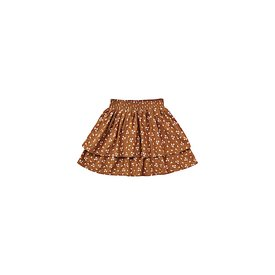 Rylee + Cru Rylee + Cru Ditsy Tiered Mini Skirt - Cinnamon