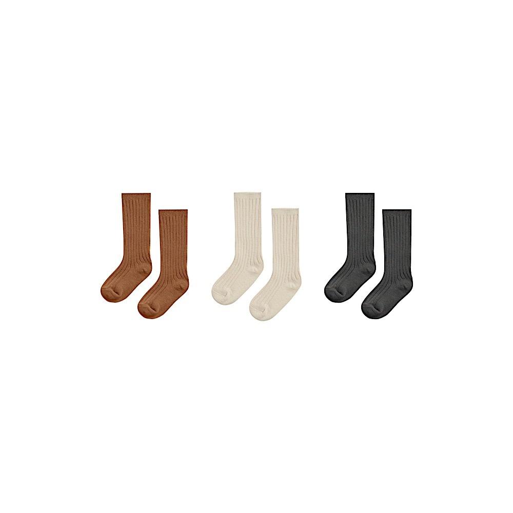 Rylee + Cru Solid Knee Socks - Pack of 3
