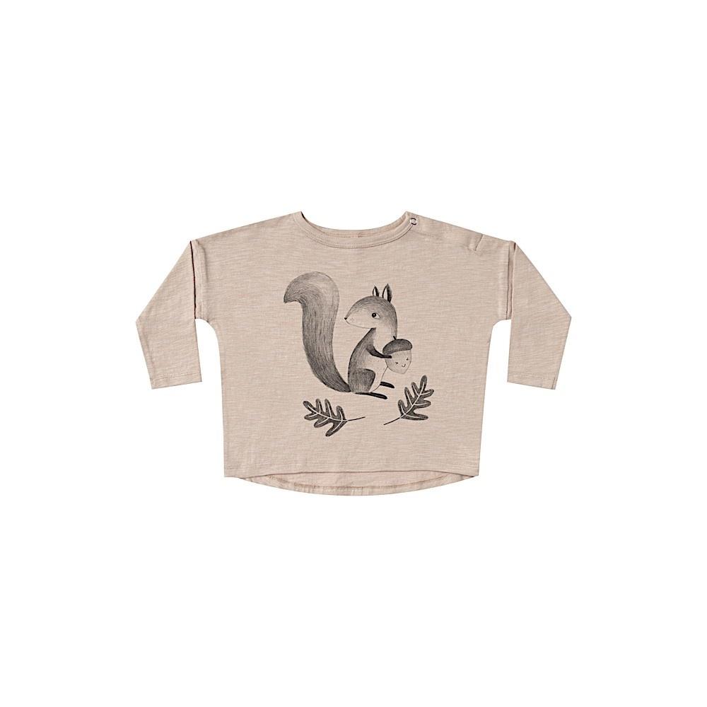 Rylee + Cru Squirrel Longsleeve Tee - Oat