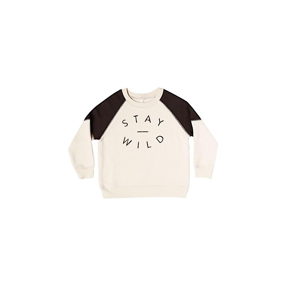 Rylee + Cru Rylee + Cru Stay Wild Raglan Sweatshirt - Vintage Black