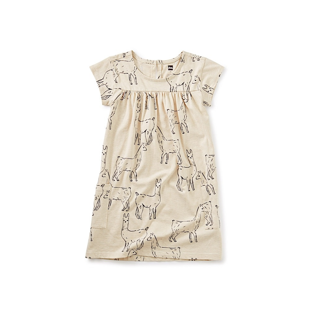 Tea Collection Pocket Dress - Llama Love