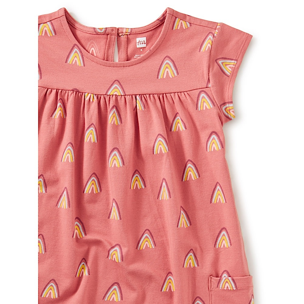 Tea Collection Pocket Dress - Rainbow Mountain