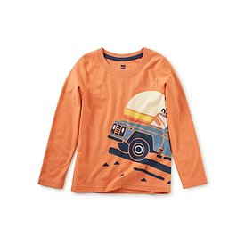 Tea Collection Tea Collection Roadtrip Graphic Tee - Orange Spice