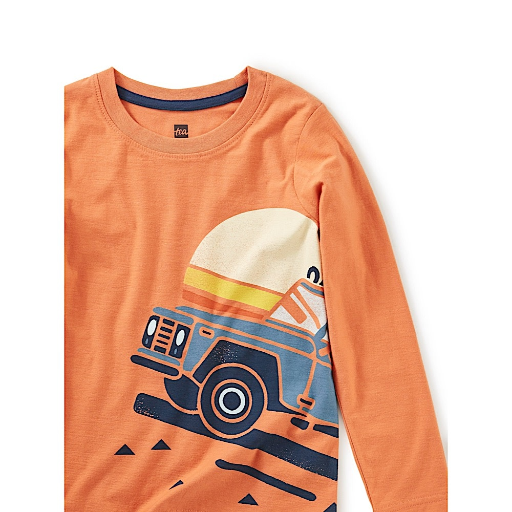 Tea Collection Roadtrip Graphic Tee - Orange Spice