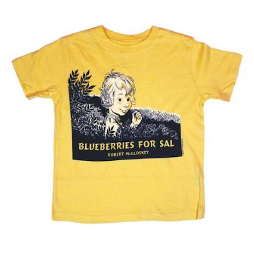 Liberty Graphics Child Tee - Blueberries For Sal Cover - Butter