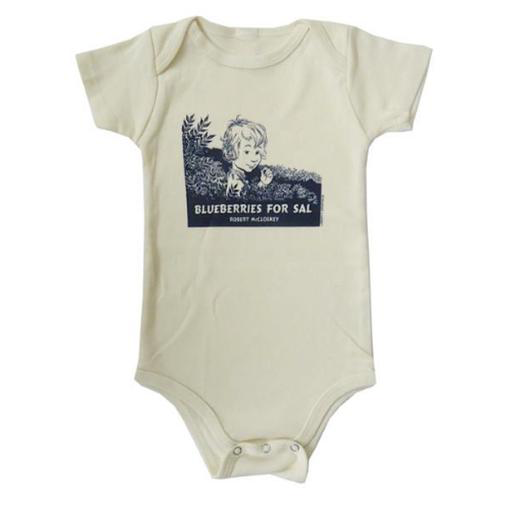 Liberty Graphics Onesie - Blueberries For Sal Cover - Natural
