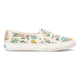 KEDS KEDS Adult + Rifle Paper Co. - Double Decker - Wildflower Embroidered - Natural