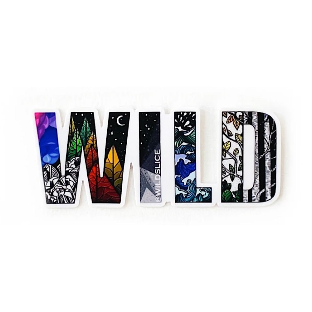 "Wild Slice Design Wild Slice Design - Wild Sticker 4"""