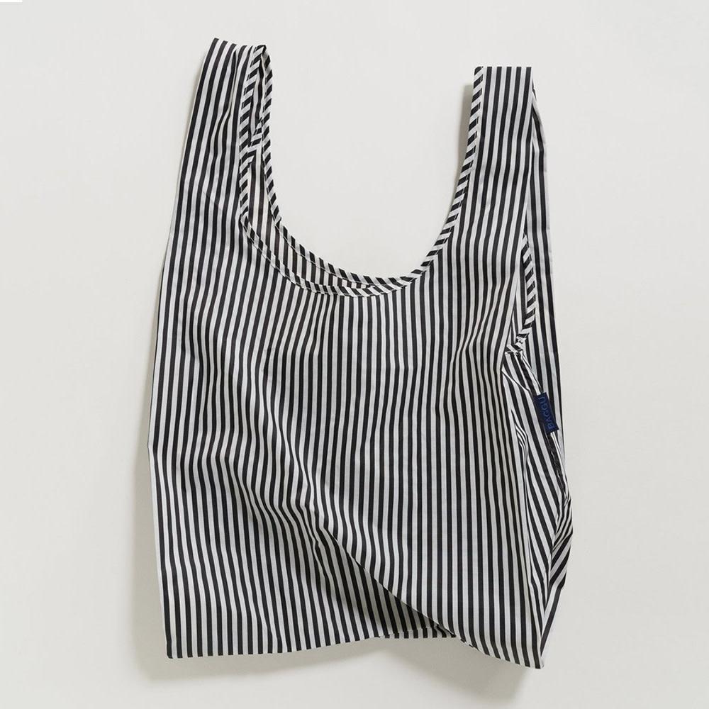 Baggu Standard Baggu - Black and White Stripe