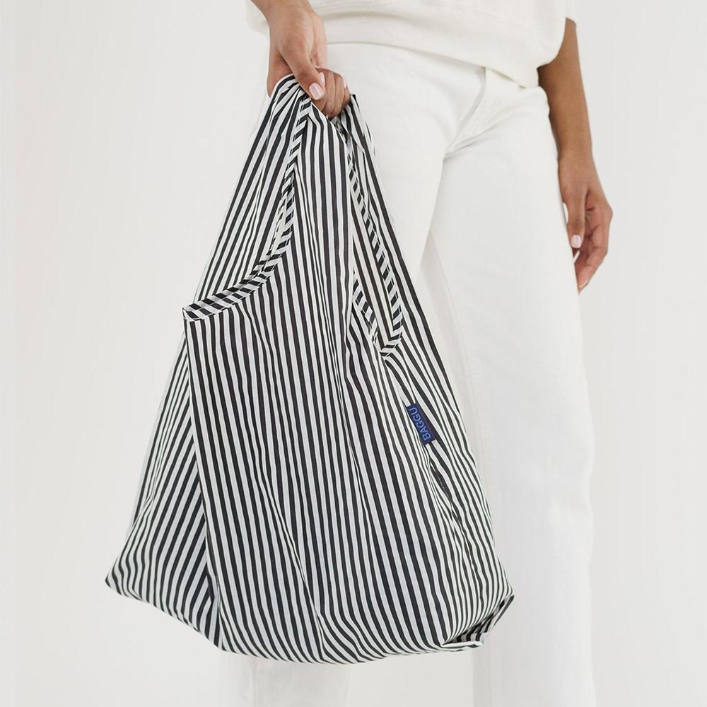 Standard Baggu - Black and White Stripe