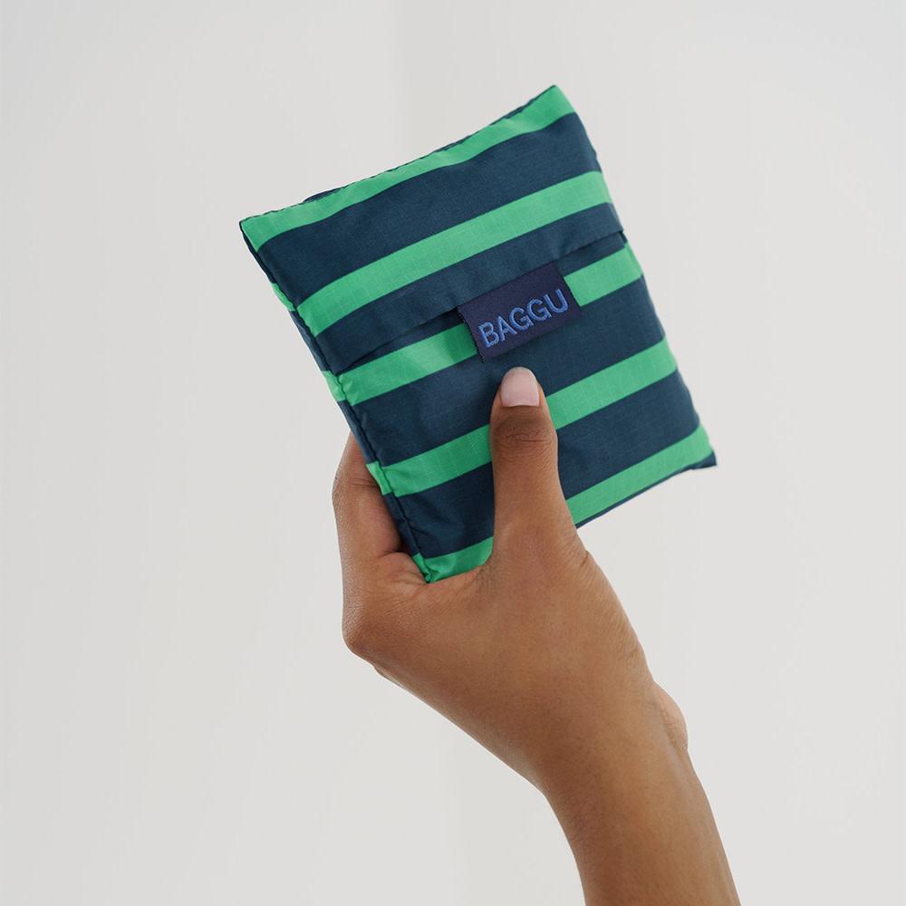 Standard Baggu - Aloe Sailor Stripe