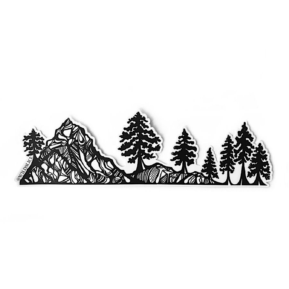 Wild Slice Design - Coastal Mountain and Trees Sticker Wrap