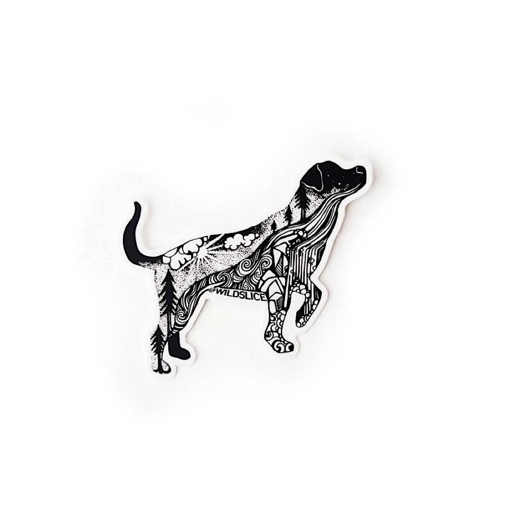 Wild Slice Design Wild Slice Design - Hiking Dog Sticker
