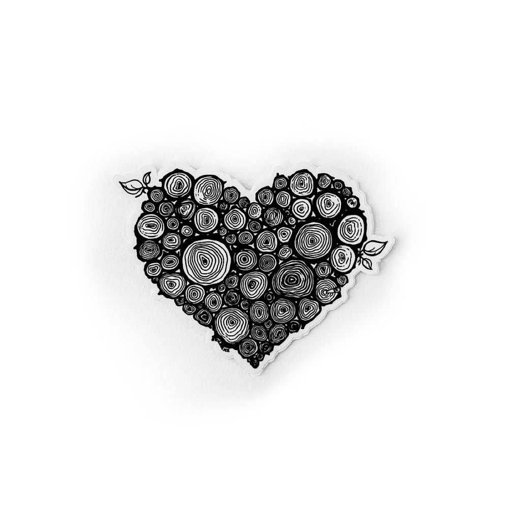 "Wild Slice Design Wild Slice Design - Wild Heart Sticker 4"""