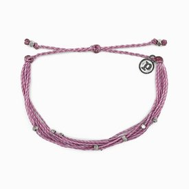 Pura Vida Pura Vida Bracelet Malibu - Silver/Lavender