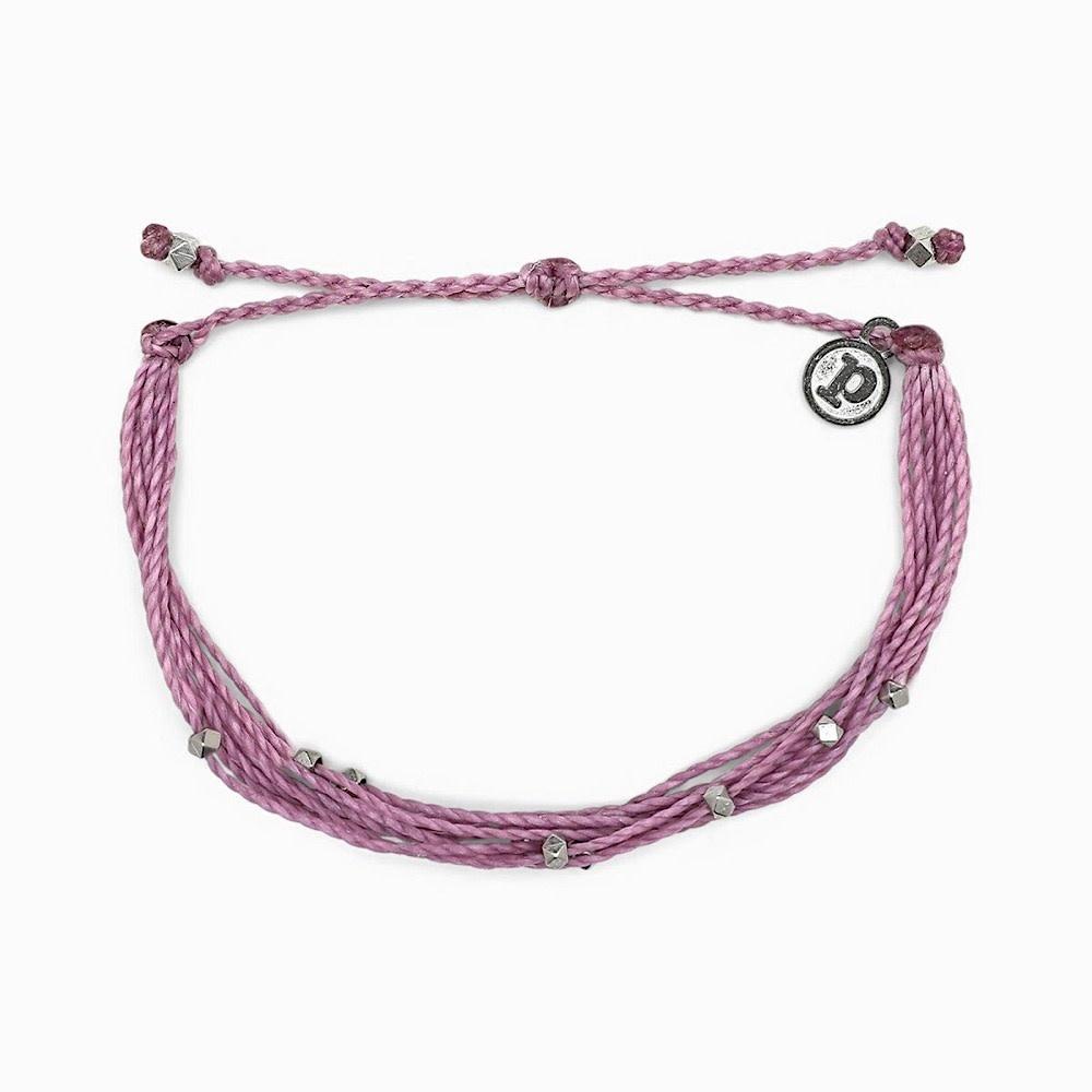 Pura Vida Bracelet Malibu - Silver/Lavender