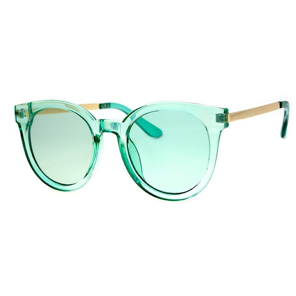 AJ Morgan Hi There Sunglasses - Crystal Green