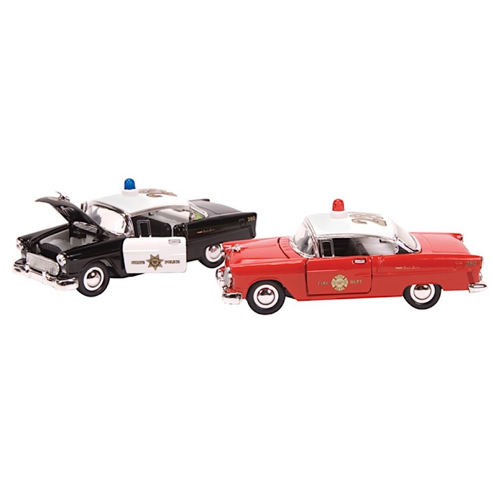 Schylling Die Cast Chevy Bel Air Police & Fire Car