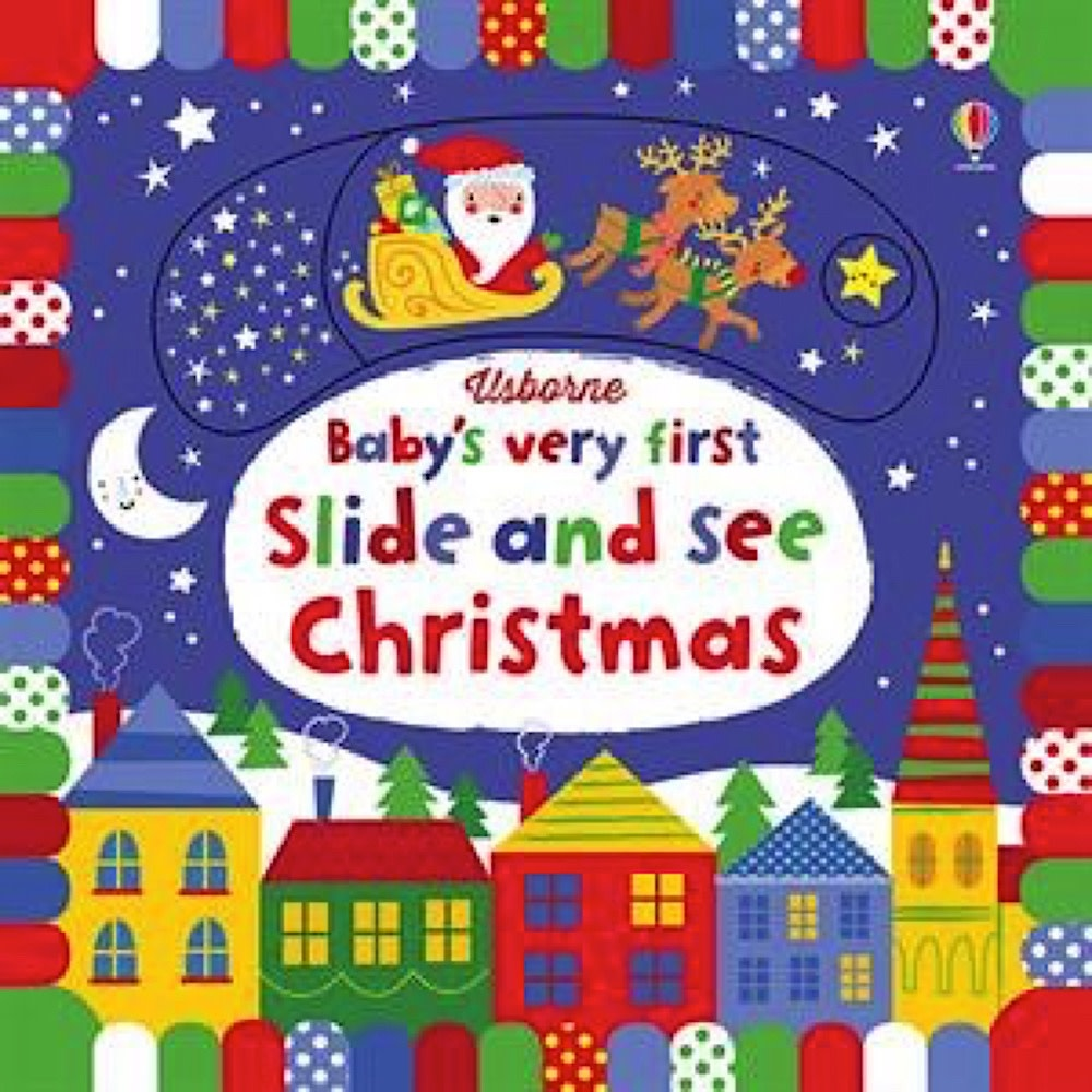 Usborne Baby's First Slide and See Christmas - Board Book