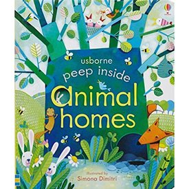 Usborne Peek Inside Animal Homes Board Book