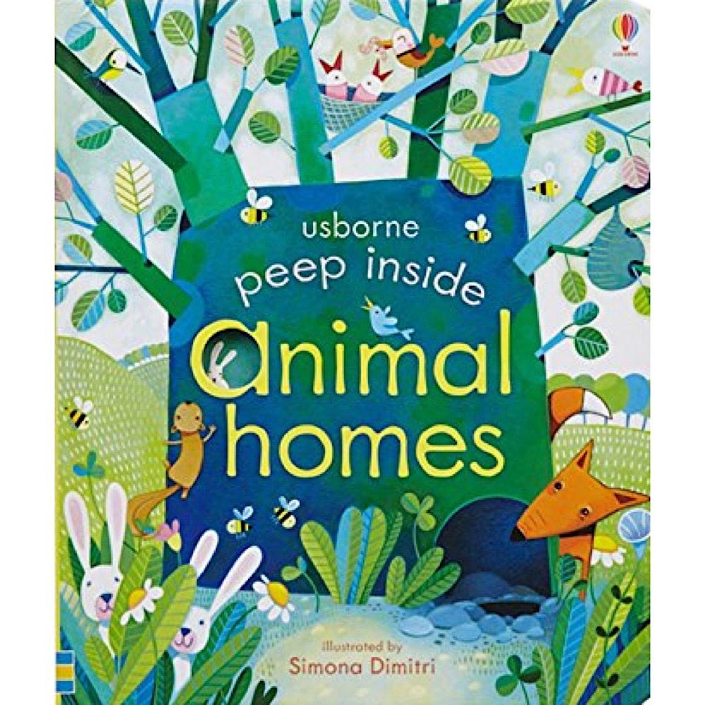 Peek Inside Animal Homes Board Book