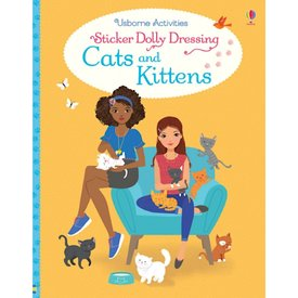Usborne Sticker Dolly Dressing Cats and Kittens