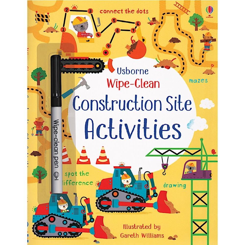 Usborne Wipe Clean Activity Book - Construction Site
