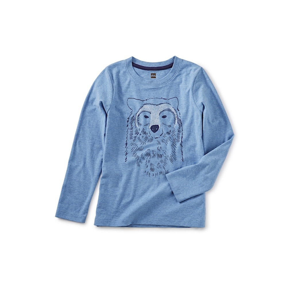 Tea Collection Bear Buddy Graphic Tee - Pacific