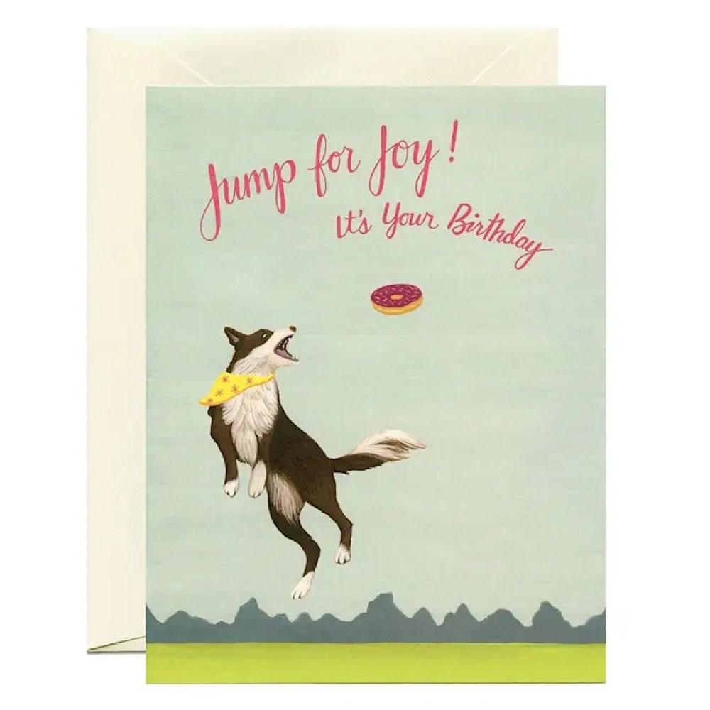 Yeppie Paper Jumping Dog Birthday Card