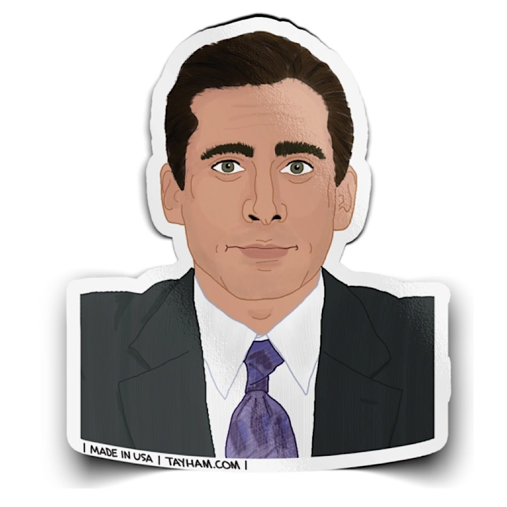 Tay Ham Michael Scott Sticker