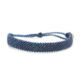 Pura Vida Pura Vida Bracelet - Flat Braided Blue