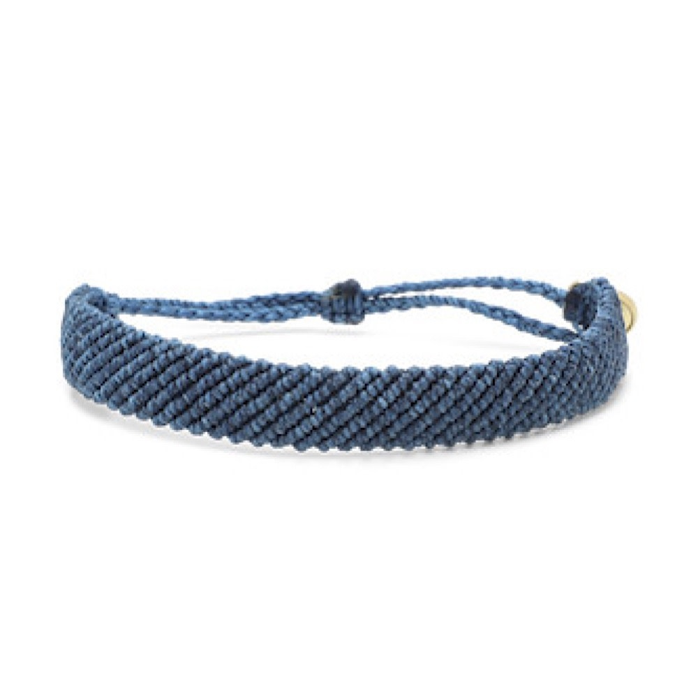 Pura Vida Bracelet - Flat Braided Blue