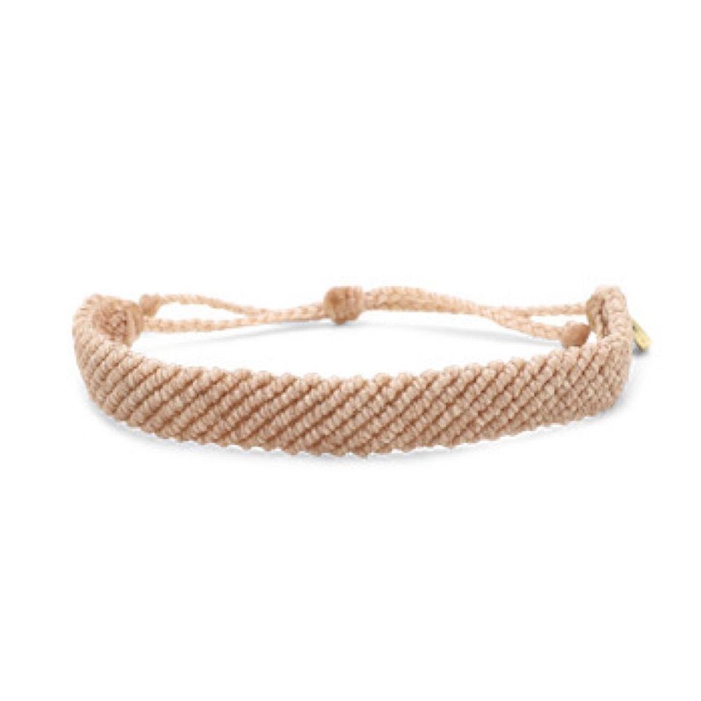 Pura Vida Bracelet - Flat Braided Blush