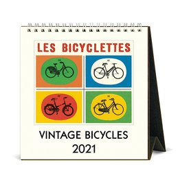 Cavallini Papers & Co., Inc. Cavallini Desk Calendar - Bicycles 2021