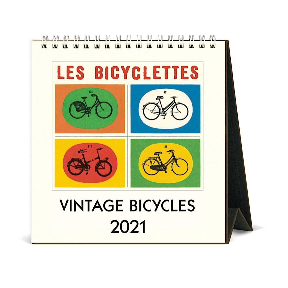 Cavallini Desk Calendar - Bicycles 2021