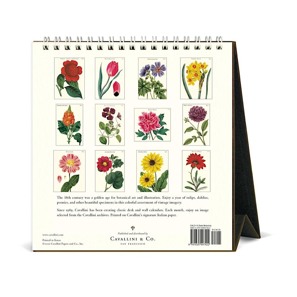 Cavallini Desk Calendar - Botanica 2021