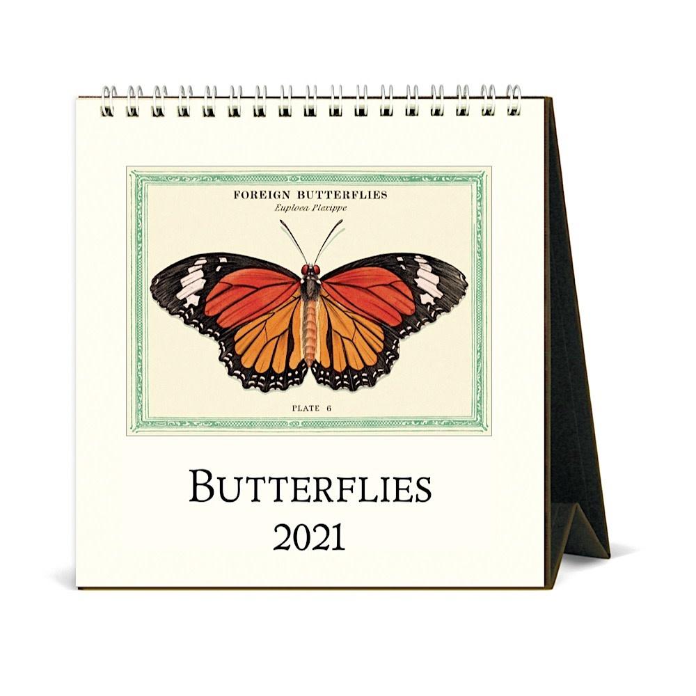 Cavallini Desk Calendar - Butterflies 2021