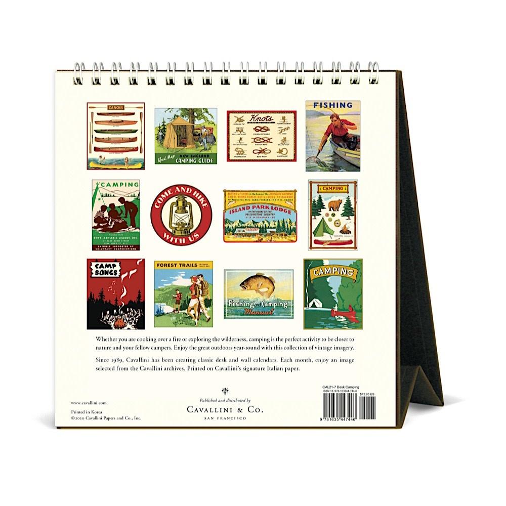Cavallini Desk Calendar - Camping 2021