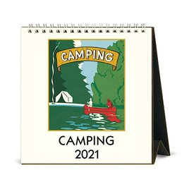 Cavallini Papers & Co., Inc. Cavallini Desk Calendar - Camping 2021