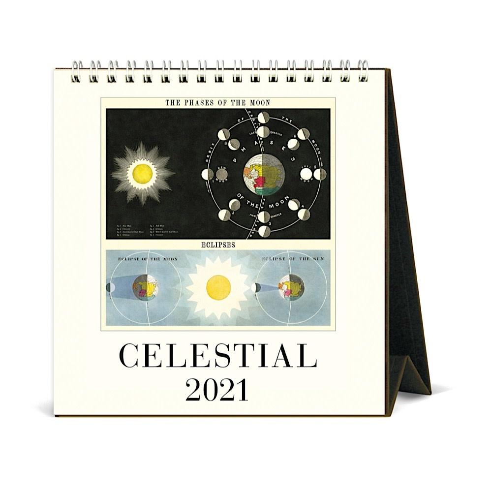 Cavallini Papers & Co., Inc. Cavallini Desk Calendar - Celestial 2021